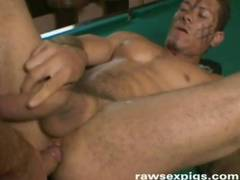 Three hot hunks fucking and sucking each other into a frenzy  Don t miss their hot loads all over  Watch it all at rawsexpigs com for all your raw bareback and raunchy xxx gay movies