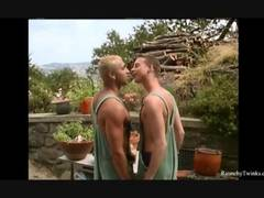Come and see the horny brunette and the wild blonde twink sharing extreme gay pleasures in the outdoors of their garden.