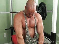 Rocky Bare muscle worship