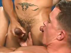 gay threesome in the lockerroom