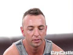 GayCastings Tatted muscle stud jerks off