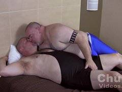 Fat hairy dads fuck each other