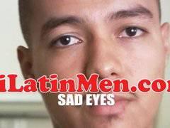 Hot masculine Latin thug jerking off