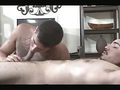 Tattooed hottie rides Latin dick