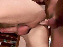 Bareback twinks, cum drips out