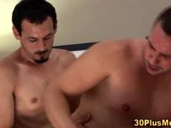 Hairy men cumshot after anal