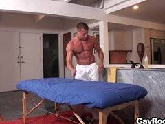Tyler Saint massages Derek Parker
