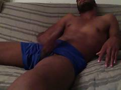 Drenched Blue Short ( 9 days of cum)