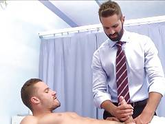 Massage session with 2 hot men.