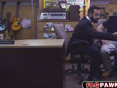 Guy with a beard fucked in his ass