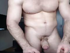 Hot daddy shows body and dick to make you horny