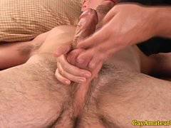 Amateur straight guy at his gay massage