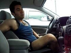 Hairy Car Cum