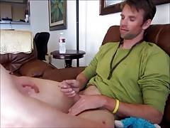 Handsome stud gets an amazing BJ