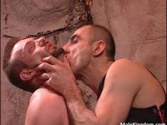 Nasty gay is tied and spanked  by guy