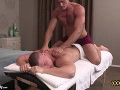 Brodie receives a sensual massage