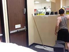 Flashing in Public Gym with cumshot