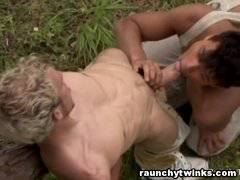 Hot Steamy Gay Sex Outdoors