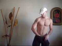 Young dude private strip show