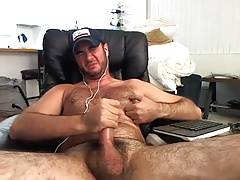 Hairy Hunks edges and cums