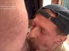 Uncut Cameraman Bear Gets Blown by 2 Grandpas