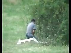 Str8 spy country men stroke in the forest