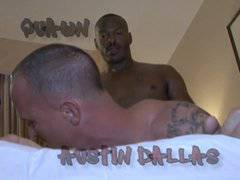 Bareback groupsex - 3 black guys 1 white hole