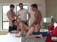 Hot gay double anal fucked
