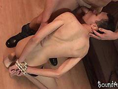 Old and young gay lovers go for kinky BDSM pl