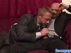 Classy hunks assfucking after cocksucking