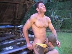 Hot brazilian studs fucking outdoors
