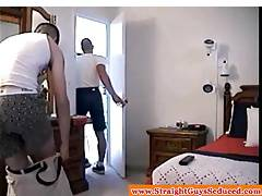 Straightbait bigcock hunk wanked and sucked by DILF
