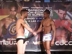 Hot boxers in underwear - weigh ins