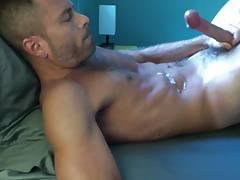 Handsome guy's Jerking in bed