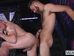 Tommy and Adam flip fuck each other hard