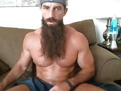 long bearded muscle guy solo #3