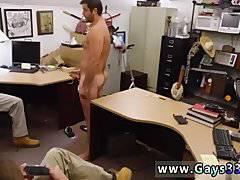 Men massage cum Straight stud goes gay for
