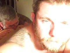 Old daddy Rimming Hairy Hole