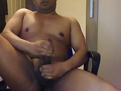 Big cock jerking off