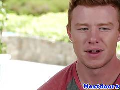 Ginger hunk jerking off in sexy solo scene