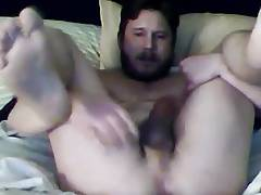 Stoking hard with cockring and poppers