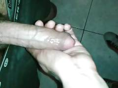 fucked bareback by sexy solider in public wc