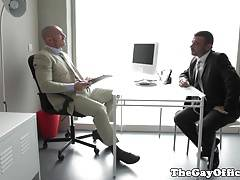 Buff office hunks assfucking