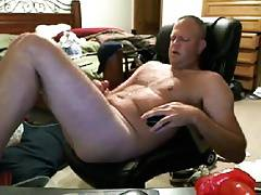 Sexy daddy enoying his toy