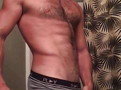 White guy teasing in the bathroom (No cum)