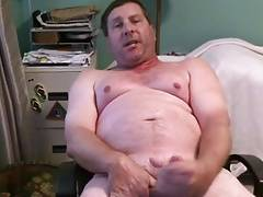 Handsome daddy eating his cum
