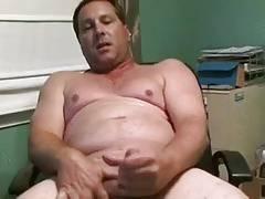 Handsome daddy cumming
