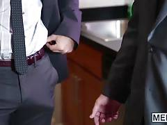 Phenix Saint drills Jimmy with his big dick in the office
