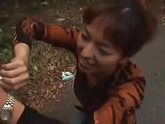 Asian Long Nails Blowjob with Attractive nails