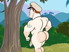 Gay Cartoon - J Bananas